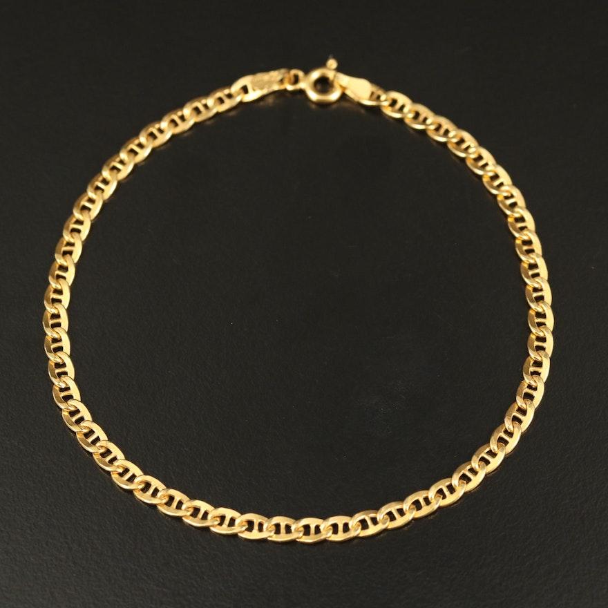 Italy 14K Mariner Chain Bracelet
