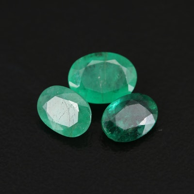 Loose 2.82 CTW Oval Faceted Emeralds
