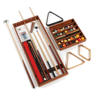 Billiards and Pool Wall Racks, Cues, Balls, and Other Accessories