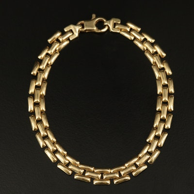 Italian 14K Panther Chain Bracelet