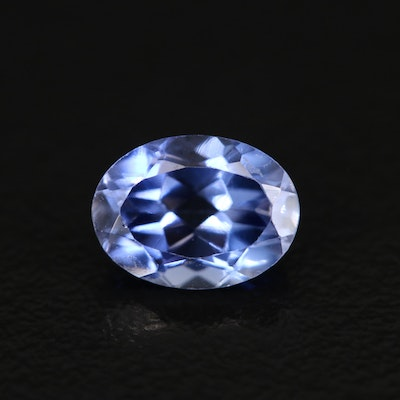 Loose Laboratory Grown Oval Faceted Sapphire