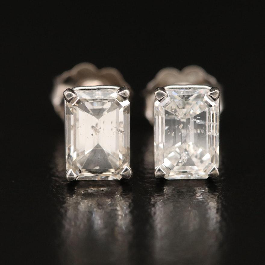14K 2.17 CTW Diamond Stud Earrings