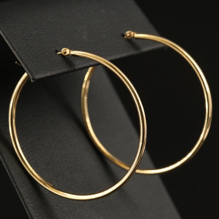 Israel 14K Hoop Earrings