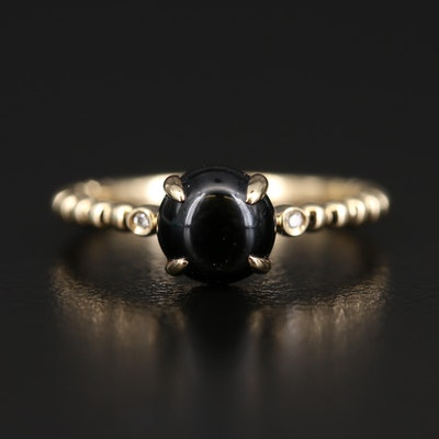 EFFY 14K Black Onyx and Diamond Ring