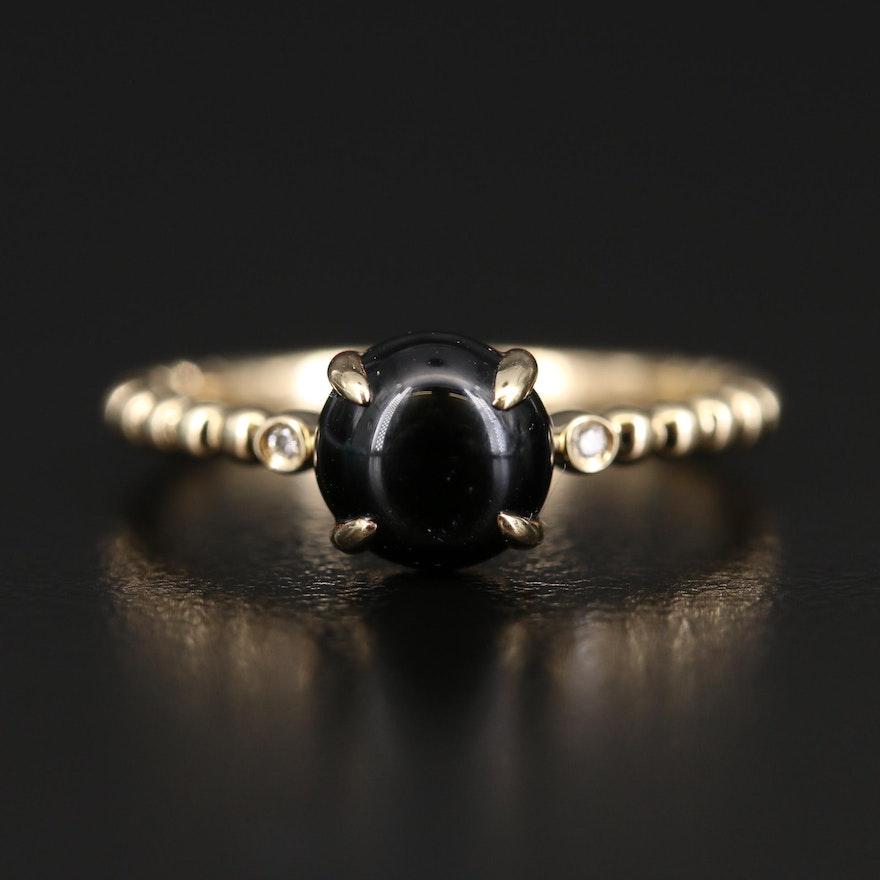 EFFY 14K Black Onyx and Diamond Ring