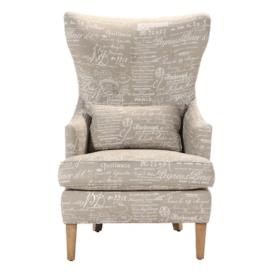 Front Room Furnishings Buttoned-Down Wingback Armchair