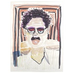 "Philip the Transplant Watercolor Painting ""Harrison K Miller"""