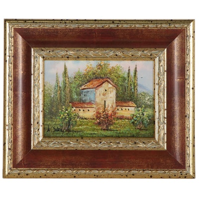 """Aldo Soleri Oil Painting """"Paesaggio"""""""