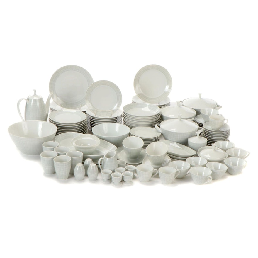 "Arzberg of Germany ""Filigran"" Porcelain Dinnerware, Late 20th Century"