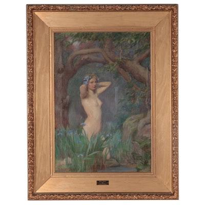 "Samuel Isham Oil Painting ""Iris's Halo,"" 1900"