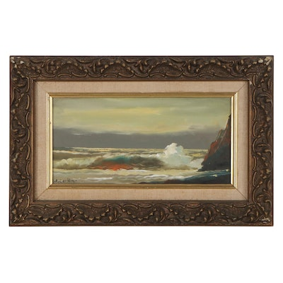 B. L. Corbin Seascape Oil Painting