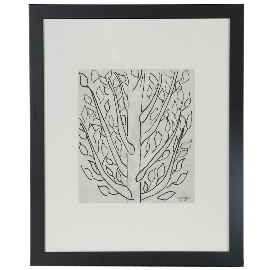 Heliogravure after Henri Matisse of a Tree, 1958