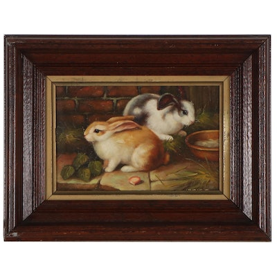 Oil Painting of Bunnies