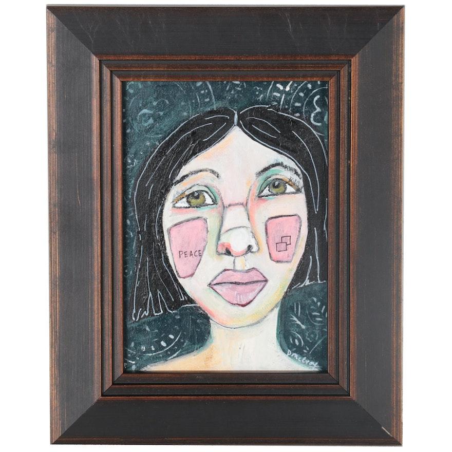"Deborah McEvoy Acrylic Painting ""Believe in the Good"""