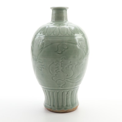 Chinese Terracotta Celadon Glazed Vase