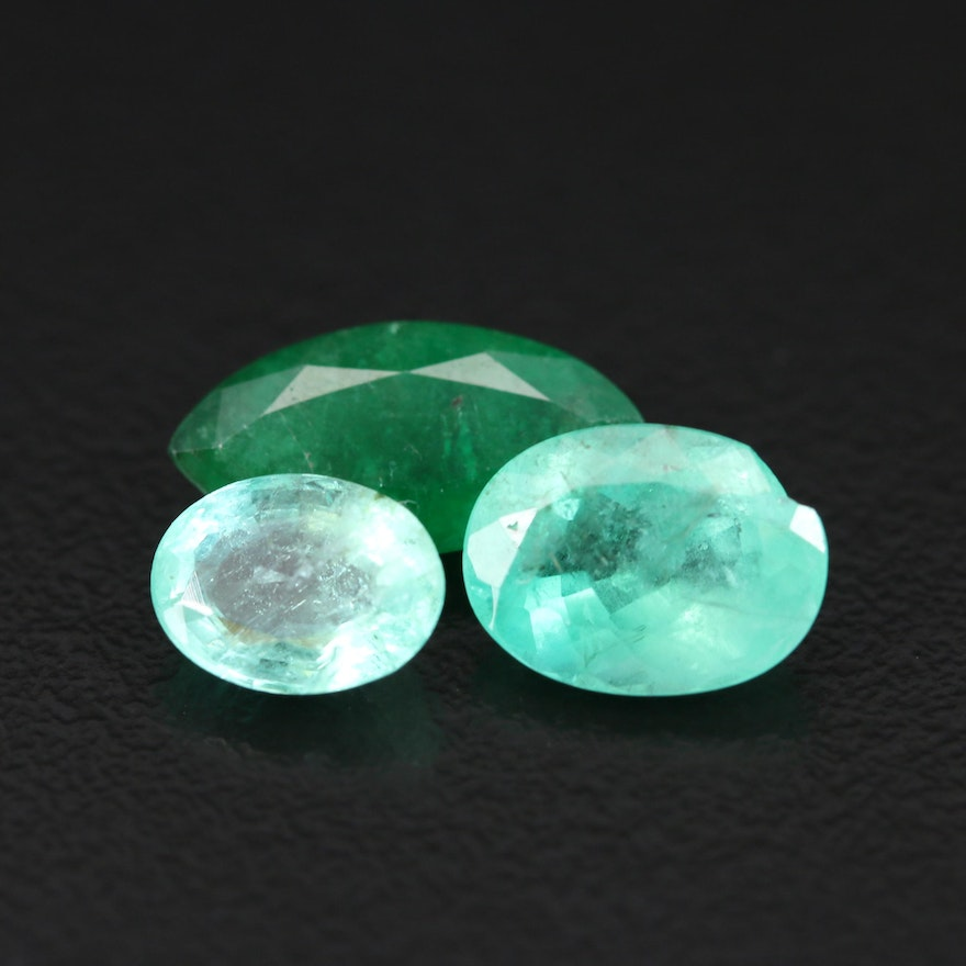 Loose 5.41 CTW Faceted Emeralds