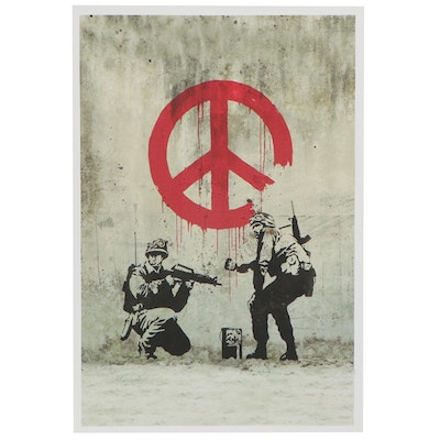 """Giclée after Banksy """"CND Soldiers,"""" 21st Century"""