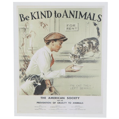 "Anti Animal Cruelty Poster after Morgan Dennis ""Be Kind to Animals"""