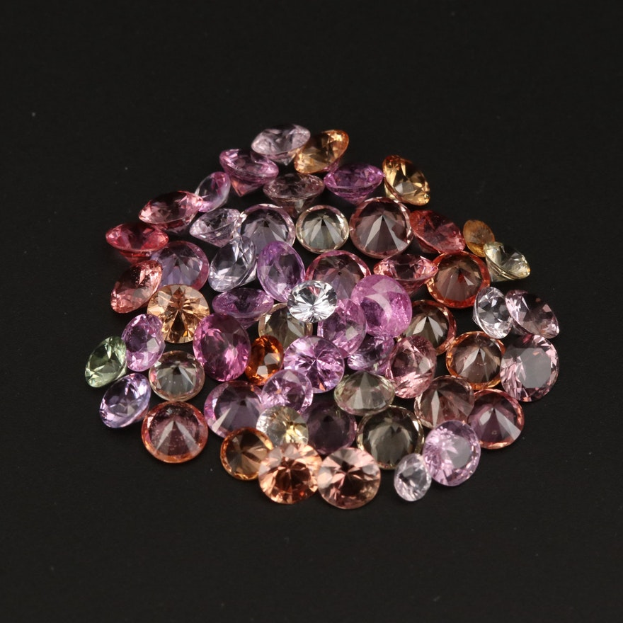 Loose 8.61 CTW Round Faceted Sapphires