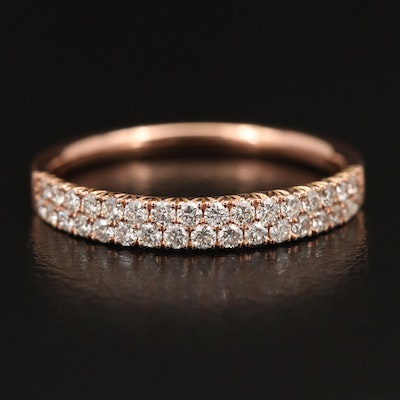 EFFY 14K Rose Gold, Double Row Diamond Band