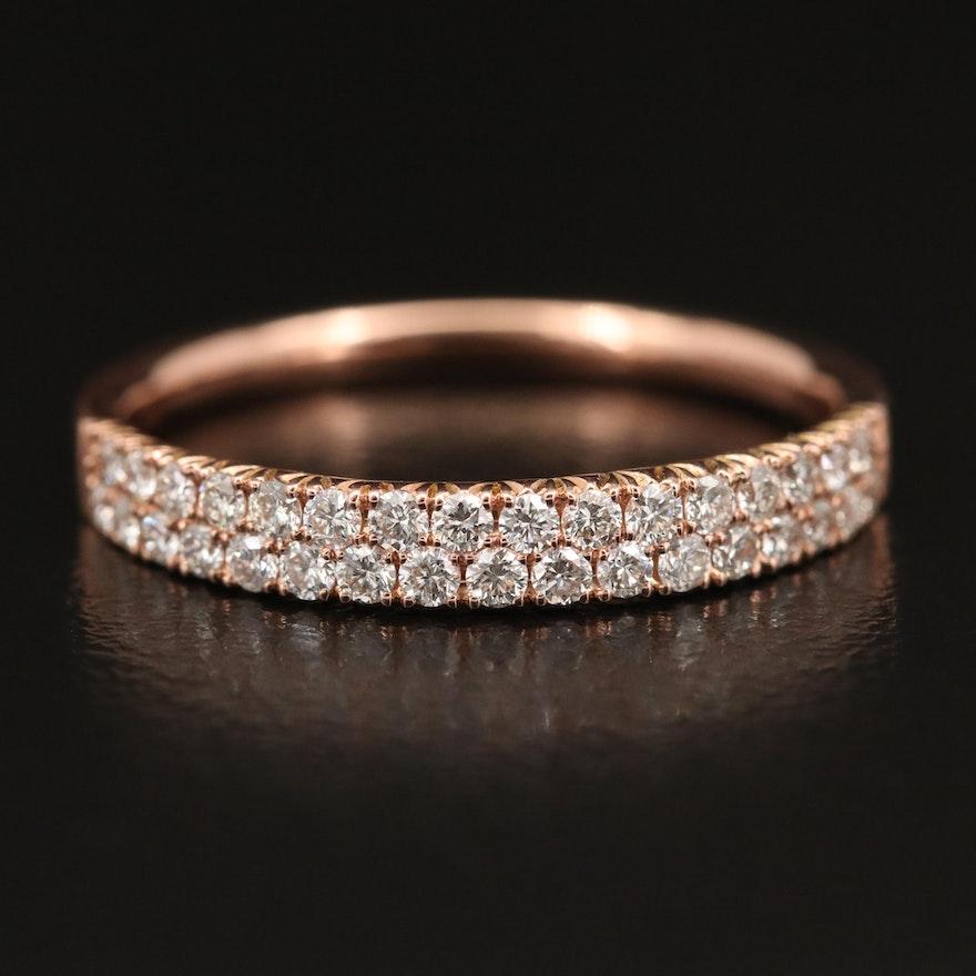 EFFY 14K Rose Gold, Double Row Diamond Band