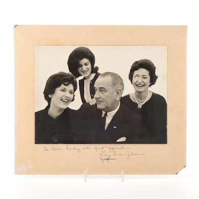 Lyndon Baines Johnson and Lady Bird Johnson Signed Photo to Edith Rowley, COA