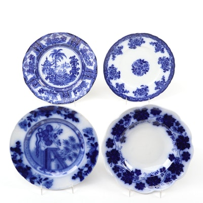 """English W. Adams  and Co.""""Kyber"""" and Other Flow Blue Plates"""