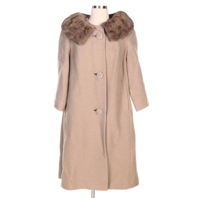 Trevi by Golét Wool Coat with Mink Fur Collar for Martin's