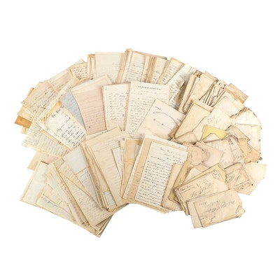Civil War Era Soldier's Letters and Correspondence, Mid to Late 19th Century