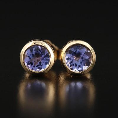 EFFY 14K Bezel Set Tanzanite Stud Earrings