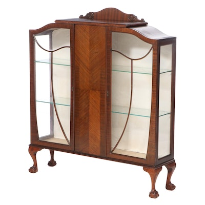 Chippendale Style Mahogany Display Cabinet, Early to Mid 20th Century