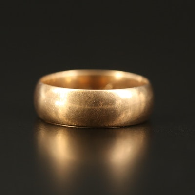 Vintage 14K Smooth Wide Band