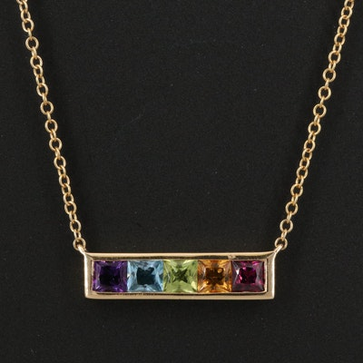 EFFY 14K Gemstone Bar Necklace