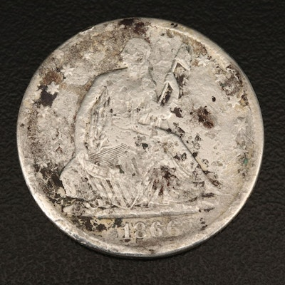 1866-S Liberty Seated Silver Half Dollar