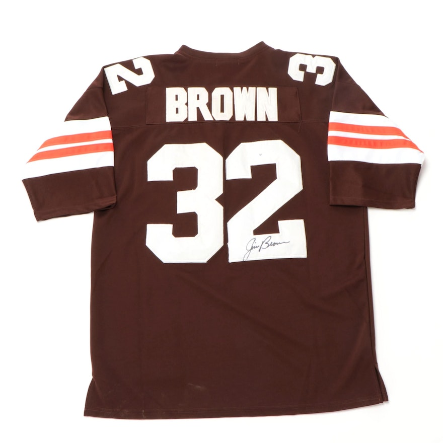 Jim Brown Signed Mitchell & Ness Cleveland Browns Football Jersey