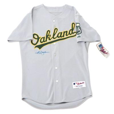 Reggie Jackson Signed Majestic Oakland Athletics Baseball Jersey, COA