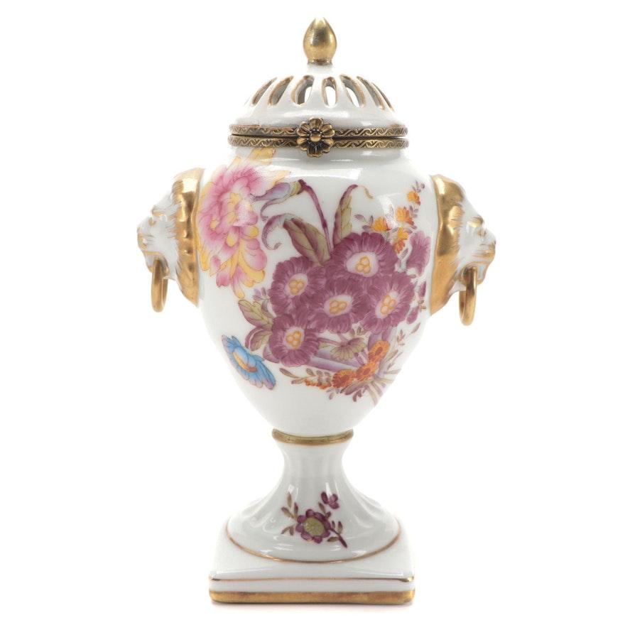 Chelsea House Porcelain Lidded Urn