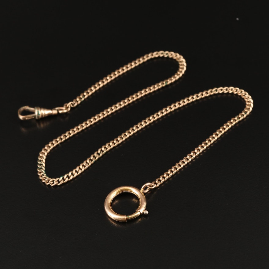 Vintage Watch Fob Chain