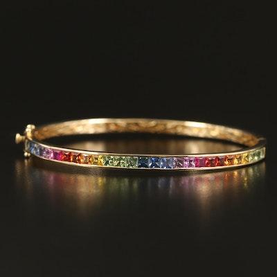 EFFY 14K Sapphire Rainbow Hinged Bracelet