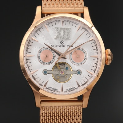 Constantin Weisz Limited Edition Rose Gold Tone Wristwatch