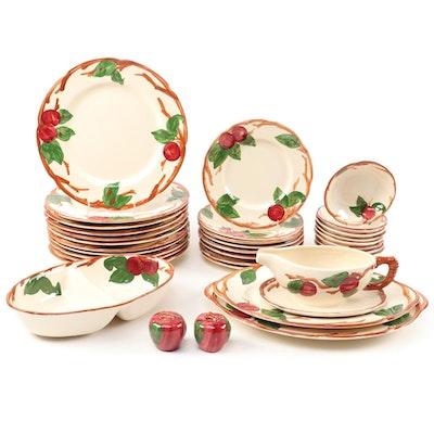 "Franciscan ""Apple"" Ceramic Dinnerware, Late 20th Century"
