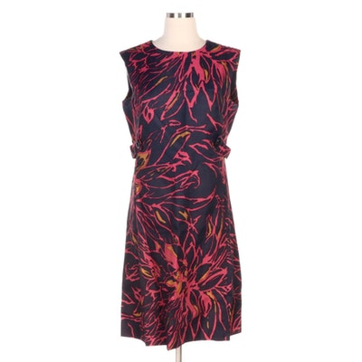 Andrea Gayle Floral Print Sleeveless Dress