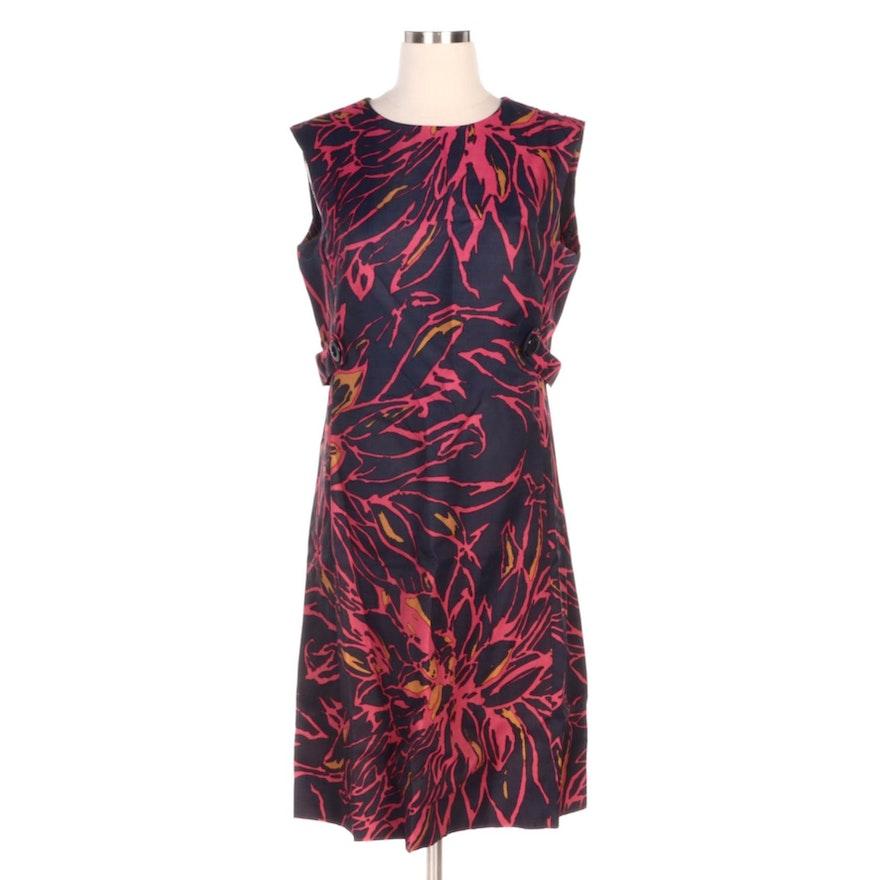 Andrea Gayle Floral Print Sleeveless Dress