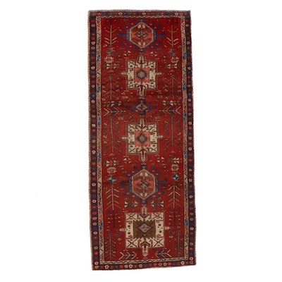 3'5 x 8'7 Hand-Knotted Persian Karaja Long Rug