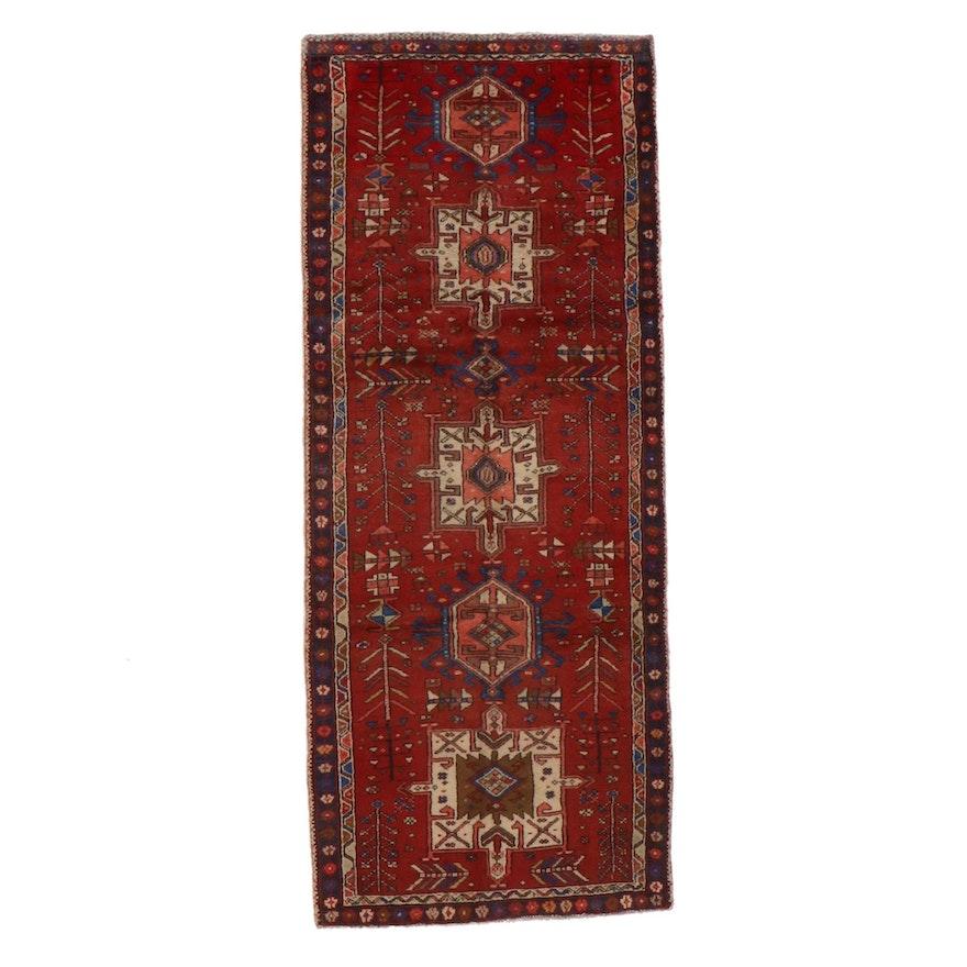 3'5 x 8'7 Hand-Knotted Persian Karaja Long Rug