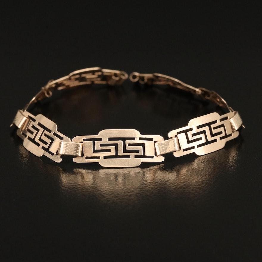 Scrap 14K Panel Bracelet
