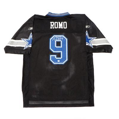Tony Romo Signed Dallas Cowboys Reebok NFL Football Jersey, COA