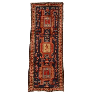 4' x 9'10 Hand-Knotted Northwest Persian Long Rug, 1960s