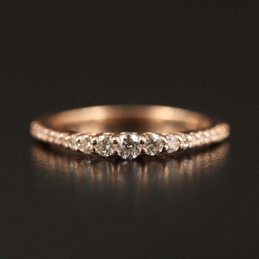 EFFY 14K Diamond Graduated Ring