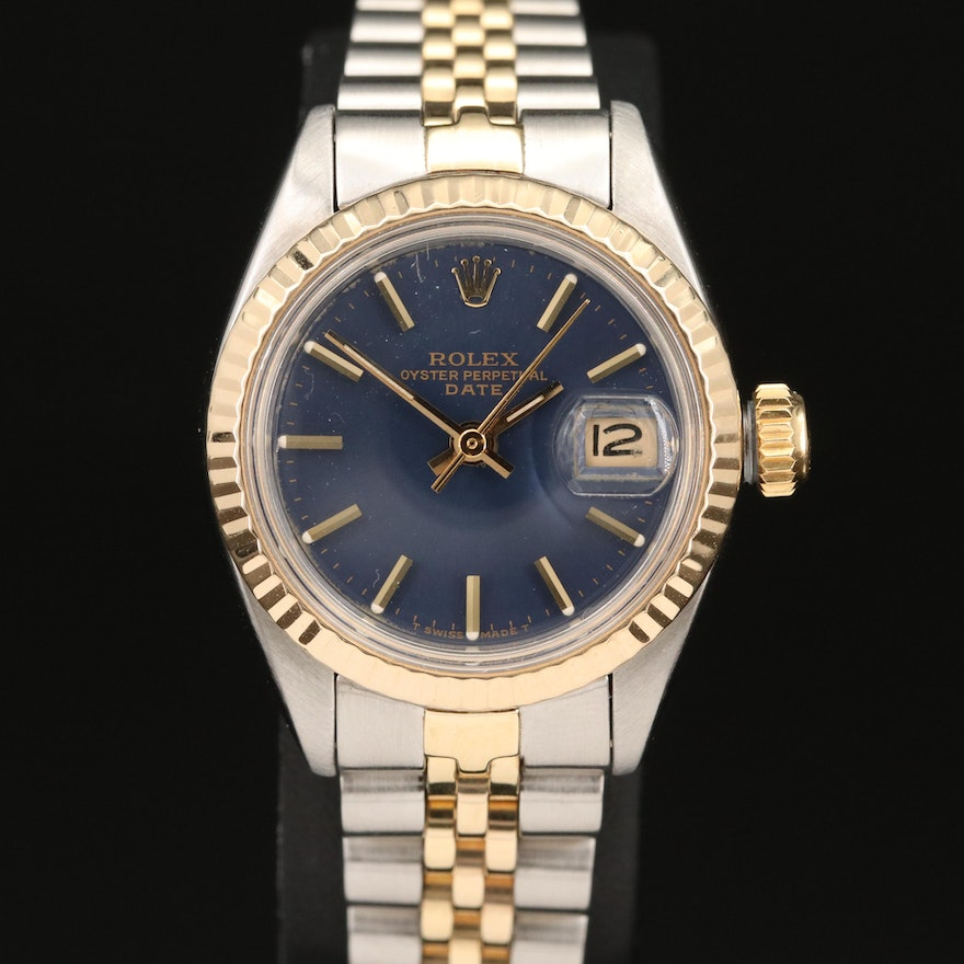 1979 Rolex Date 6917 14K Gold and Stainless Steel Automatic Wristwatch